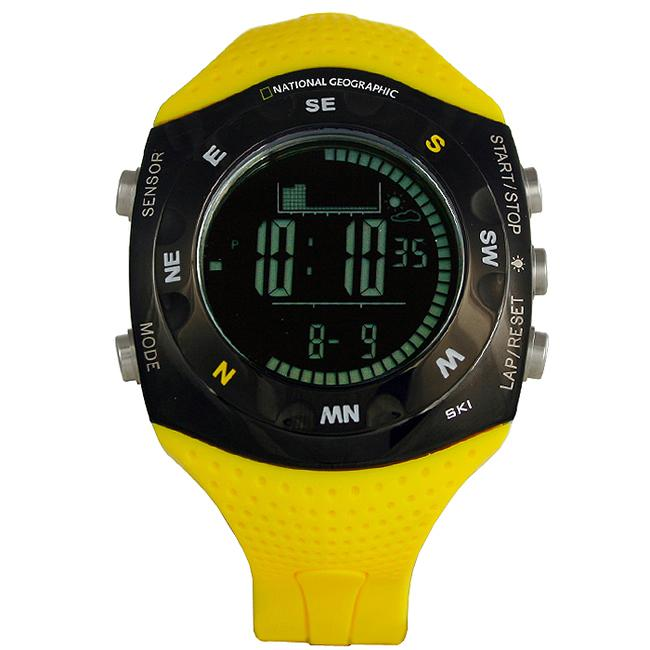 National Geographic Men's 'Skimaster' LCD Display Polyurethane Strap Watch