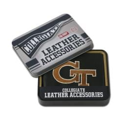Georgia Tech Yellow Jackets Men's Black Leather Bi-fold Wallet