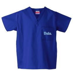 Gelscrub Unisex Royal Duke Blue Devils Scrub Top