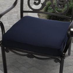 Clara 20-inch Outdoor Navy Blue Cushion with Sunbrella