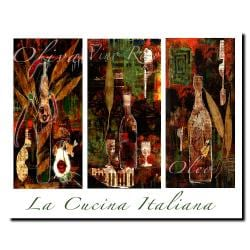Miguel Paredes 'La Cucina Italiana' Canvas Art