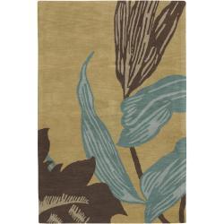 "Contemporary Hand-Tufted Hiroshi New Zealand Wool Rug (5' x 7'6"")"