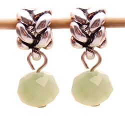 Bleek2Sheek Green Aventurine Crystal Dangle Charm Beads (Set of 2)