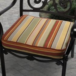 Kate Orange Stripe Outdoor Cushion With P Kaufmann Fabric image