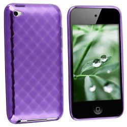 INSTEN Purple Rhinestone TPU iPod Case Cover for Apple iPod touch 4th Gen