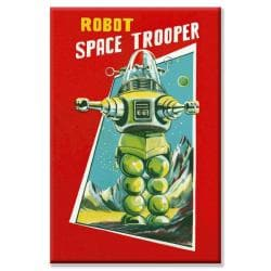 'Robot Space Trooper' Canvas Art