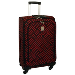 Jenni Chan Black and Red Signature 24-inch Wheeled Upright Luggage Travel Bags