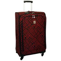 Jenni Chan Black and Red 28-inch Wheeled Upright Luggage