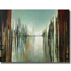 Gregory Lang 'Bridges and Towers' Canvas Art