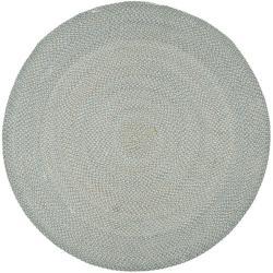 Safavieh Hand-woven Reversible Grey Braided Rug (6' Round)