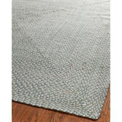 Safavieh Hand-woven Reversible Grey Braided Rug (6' Square)