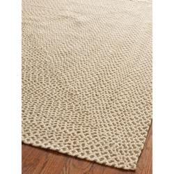 Safavieh Hand-woven Reversible Beige/ Brown Braided Rug (2'6 x 4')