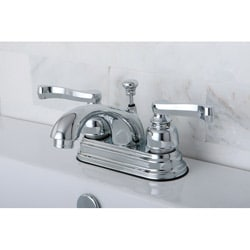 French Handles Chrome Bathroom Faucet