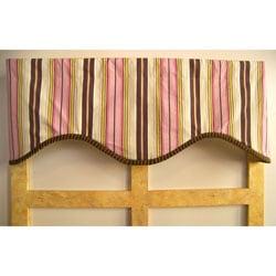 Pink Truffle Stripe Cotton Valance