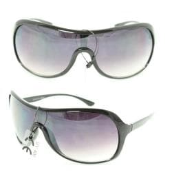Unisex 592 Purple Gradient Lens Shield Sunglasses