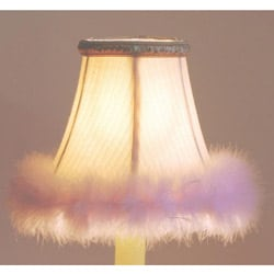 Cream Pink Faux Fur Chandelier Mini Shades (Set of 2)