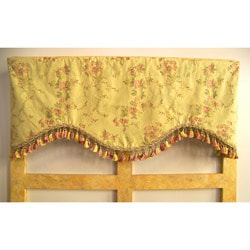Garden Floral Valance With Tassel Trim