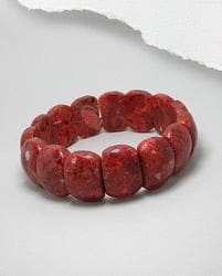 Sponge Coral 'Red Sea' Stretch Bracelet
