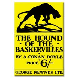 'Hound of the Baskervilles #4 (book cover)' Canvas Art