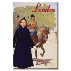 Sara Pierce 'London Raincoat' Canvas Art
