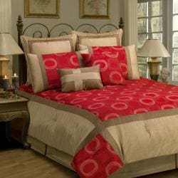 Sherry Kline Synergy Red 8-piece Comforter Set