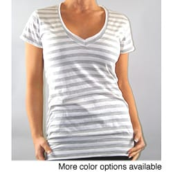 Institute Liberal Luxurious Striped V-neck Knit Top