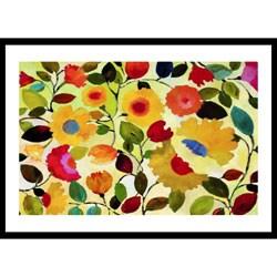 Kim Parker 'Siena Garden' Wood Framed Art Print