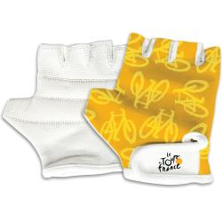 Tour De France Youth Yellow Bicycle Riding Gloves