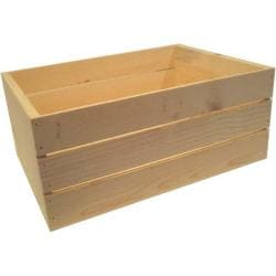 Large 22-inch Wooden Crate