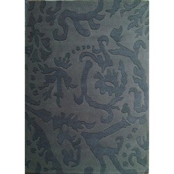 Hand-tufted Disco Grey Wool Rug (5' x 8')