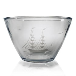 Susquehanna Glass Hand-cut Clipper Ship Bowl