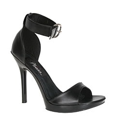 Pleaser 'Vogue' Women's Black Ankle-strap Heels
