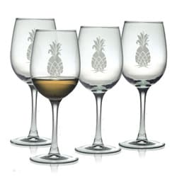 Pineapple Collection White Wine Glasses (Set of 4)