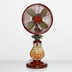 Deco Breeze DBF0752 Ferns 10-inch Mosaic Glass Table Fan