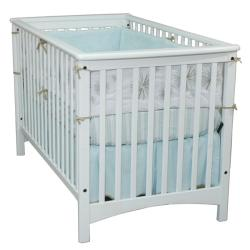 London Euro-style Matte White Stationary Crib
