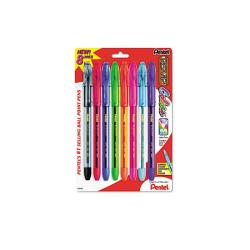 Pentel R.S.V.P. Medium Point Assorted Color Ballpoint Stick Pens (Pack of 8)