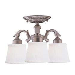 Semi-flush 3-light Ceiling Fixture