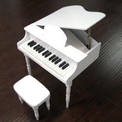 Child's White Baby Grand Piano