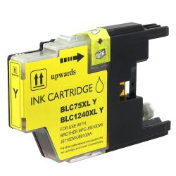 INSTEN Brother LC75Y Compatible High-yield Yellow Ink Cartridge