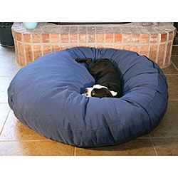 Round 50-inch Navy Pet Bed