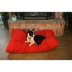 Red Rectangle Pet Bed (As Is Item)