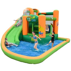 KidWise Endless Fun 11-in-1 Inflatable Bounce House and Waterslide–Overstock.com-Cash Back