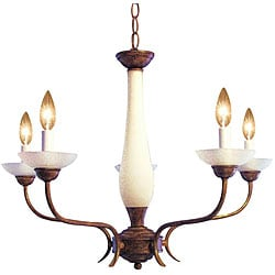 Woodbridge Lighting 5-light Harvest Gold Chandelier