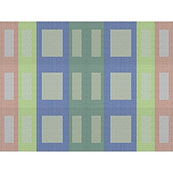 Dash Rainbow Woven Placemats (Pack of 12)