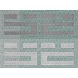 Multi-shades Aqua 16x12-in Woven Placemats (Pack of 12)
