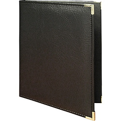 Black Padded Menu Cover with Stitched Edges (Pack of 25)