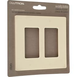 Lutron Claro Almond Two-gang Rocker Wallplates (Set of 4)