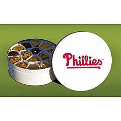 Mrs Fields Philadephia Phillies 96 Nibbler Cookies Tin image