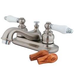Two-tone Satin Nickel Teapot Bathroom Faucet 8152342
