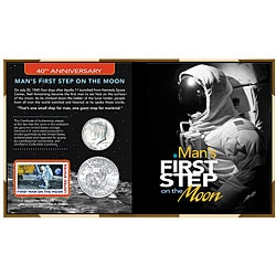 American Coin Treasures Man's First Step on the Moon 40th Anniversary Collection